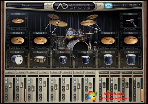 Skjermbilde Addictive Drums Windows 7