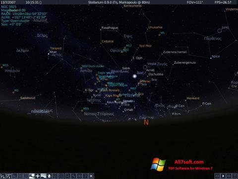 Skjermbilde Stellarium Windows 7