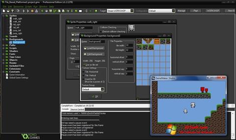 Skjermbilde GameMaker: Studio Windows 7