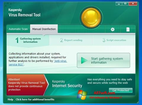 Skjermbilde Kaspersky Virus Removal Tool Windows 7