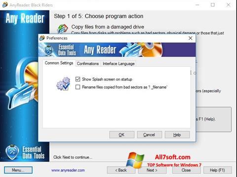 Skjermbilde AnyReader Windows 7