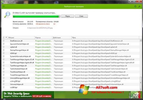 Skjermbilde Dr.Web Windows 7