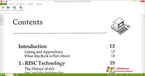 Skjermbilde Hamster PDF Reader Windows 7