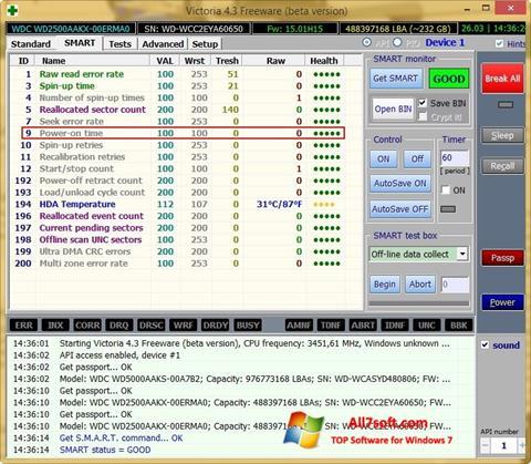 Skjermbilde Victoria Windows 7