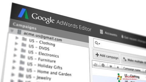 Skjermbilde AdWords Editor Windows 7