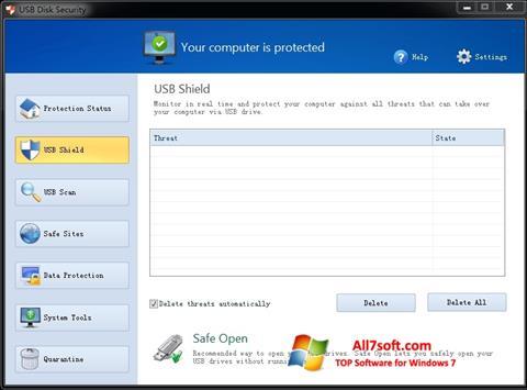 Skjermbilde USB Disk Security Windows 7