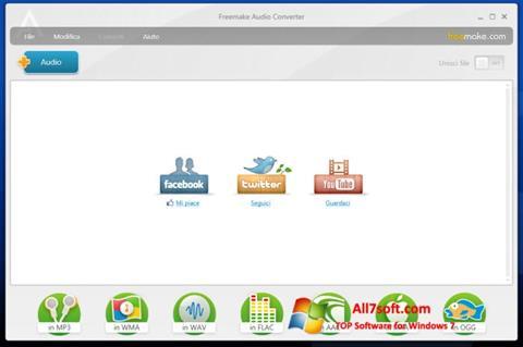 Skjermbilde Freemake Audio Converter Windows 7