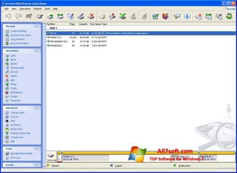 Skjermbilde Acronis Partition Magic Windows 7