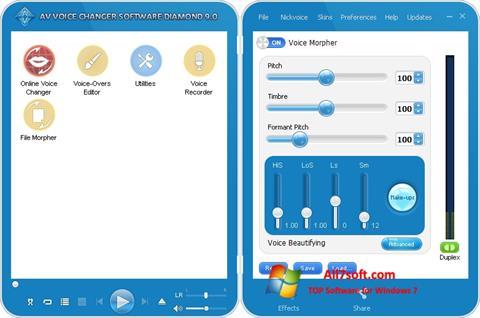 Skjermbilde AV Voice Changer Diamond Windows 7