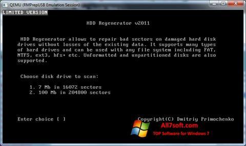 Skjermbilde HDD Regenerator Windows 7