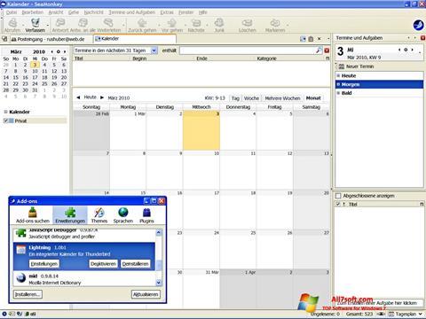 Skjermbilde SeaMonkey Windows 7