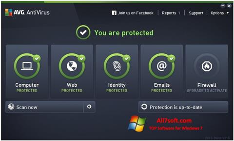 Skjermbilde AVG AntiVirus Pro Windows 7