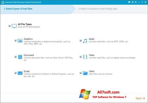 Skjermbilde EaseUS Data Recovery Wizard Windows 7