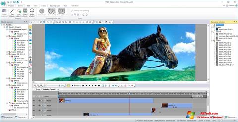 Skjermbilde VSDC Free Video Editor Windows 7