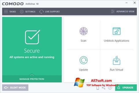 Skjermbilde Comodo Antivirus Windows 7